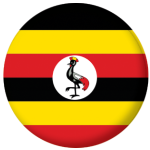 Uganda Country Flag 58mm Button Badge